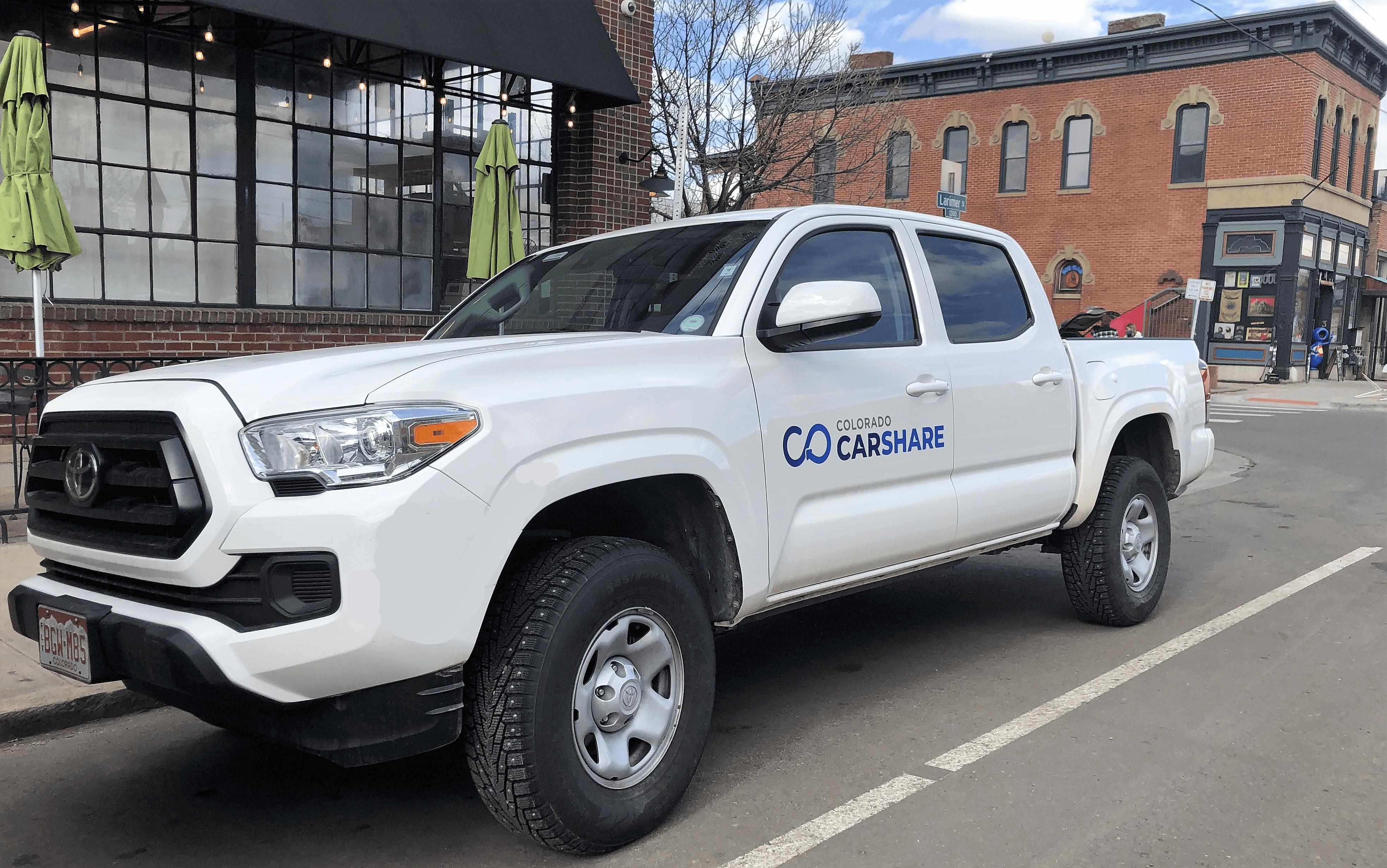 Colorado CarShare's 2020 Toyota Tacoma Pickup Truck